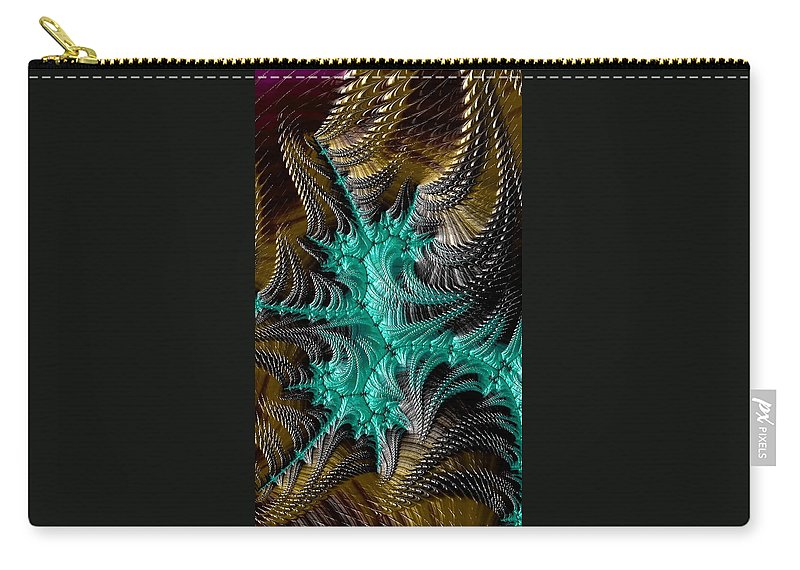 fractal Art abstract Art abstract Photography Abstract fractal Photography tie-dye alien Spines Alien alien Art iphone Cases phone Cases Carry-all Pouch featuring the photograph Spines by Bill Owen