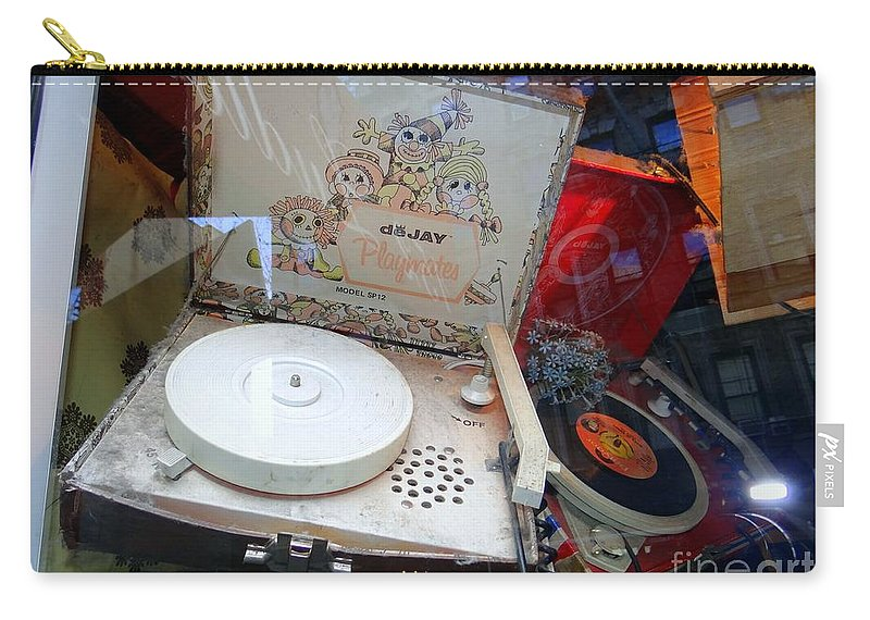 Retro Carry-all Pouch featuring the photograph Spinnin The 45s by Ed Weidman