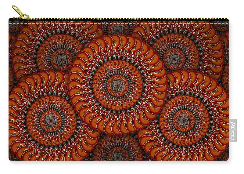 Abstract Guitars Carry-all Pouch featuring the photograph Spinning Guitars 2 by Mike McGlothlen