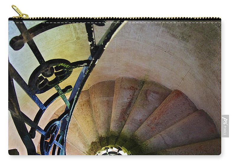 Abstract Carry-all Pouch featuring the photograph Spinning Stairway by Carlos Caetano