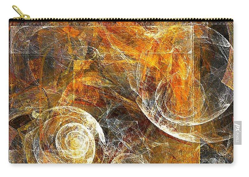 Spiral Carry-all Pouch featuring the digital art Spiral 136-02-13 - Marucii by Marek Lutek