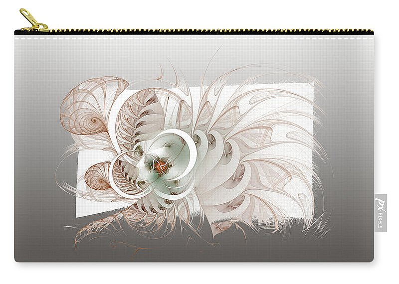 Digital Art Carry-all Pouch featuring the digital art Spiral Fantasy II by Amanda Moore