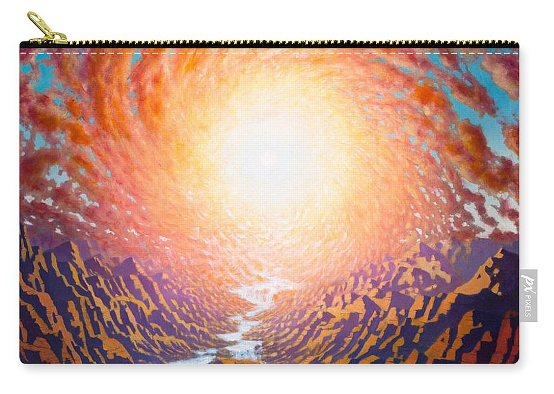 Sun Carry-all Pouch featuring the painting Spiral Glow by Karma Moffett