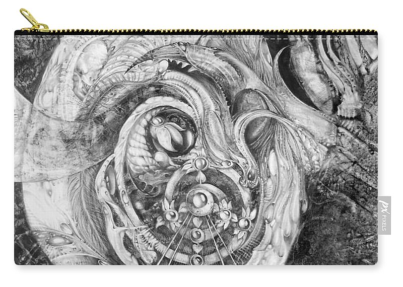 Spiral Rapture Carry-all Pouch featuring the painting Spiral Rapture 2 by Otto Rapp