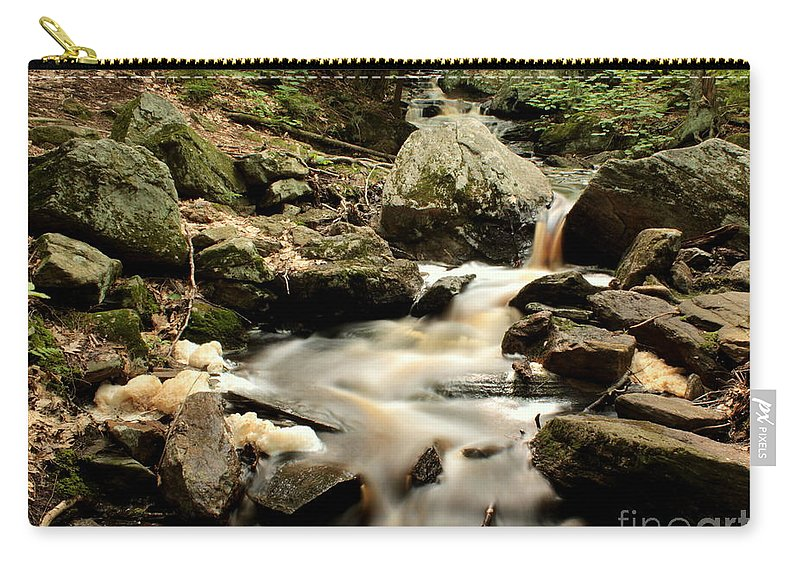 Spirit Carry-all Pouch featuring the photograph Spirit Falls - 1 by Kenny Glotfelty