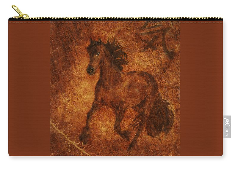 Chinese Horse Art Carry-all Pouch featuring the photograph Spirit by Melinda Hughes-Berland