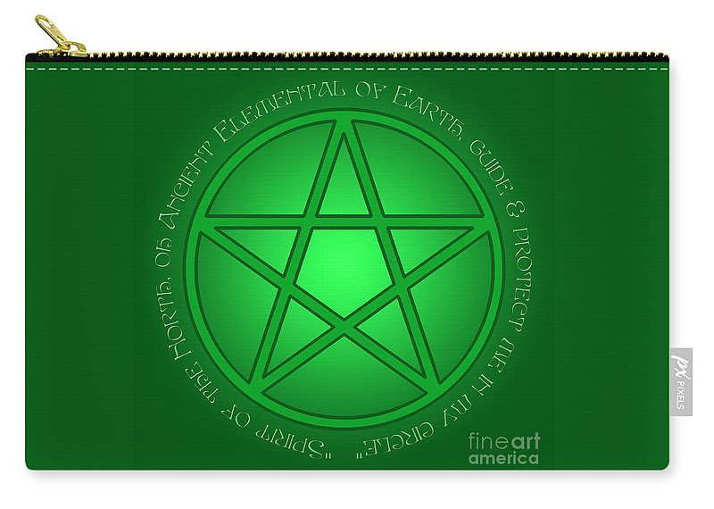 Spirit Of Earth Carry-all Pouch featuring the digital art Spirit Of Earth by Melissa A Benson