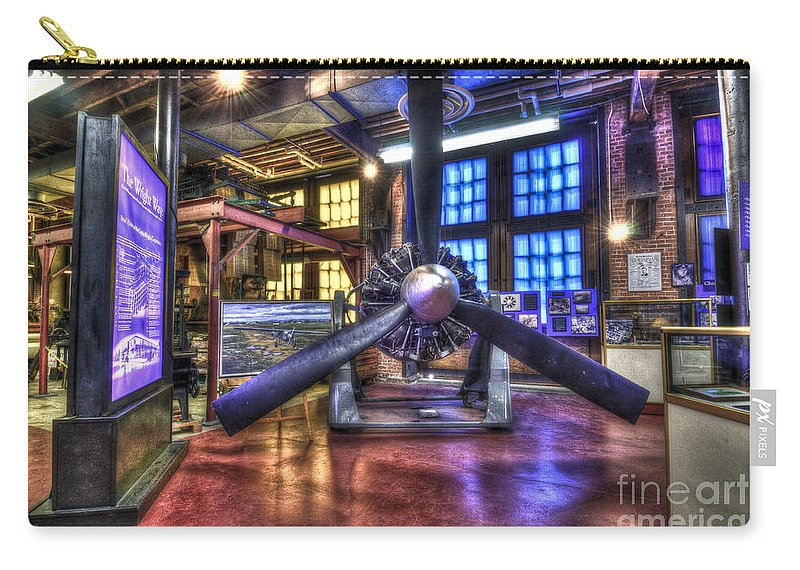 Hdr Carry-all Pouch featuring the photograph Spirit Of St.louis Engine by Anthony Sacco