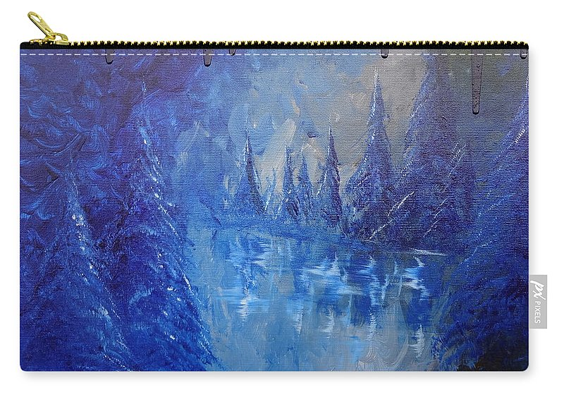 Spirit Pond Carry-all Pouch featuring the painting Spirit Pond by Jacqueline Athmann