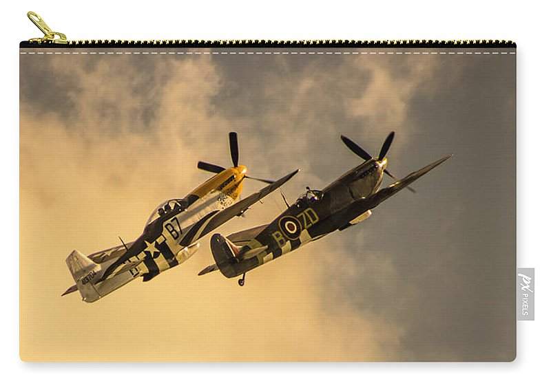 Duxford Carry-all Pouch featuring the photograph Spitfire by Martin Newman
