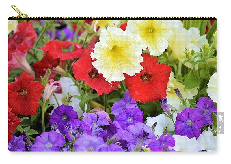 Petunia Carry-all Pouch featuring the photograph Splash Of Color by Bonfire Photography