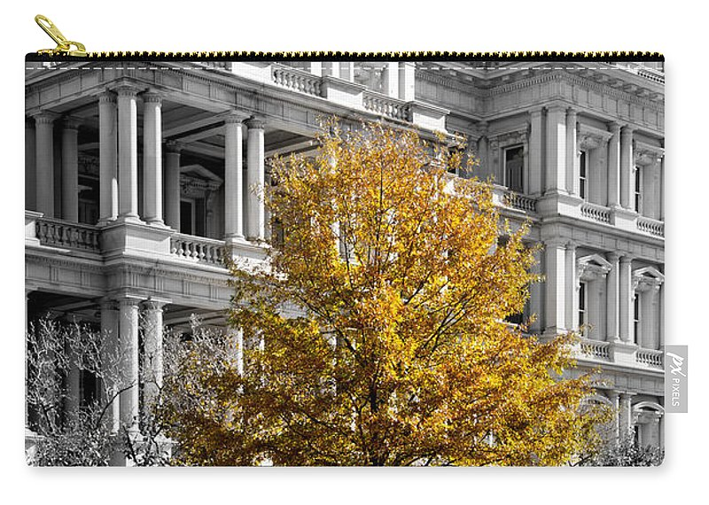 Arlington Cemetery Carry-all Pouch featuring the photograph Splash Of Gold by Greg Fortier