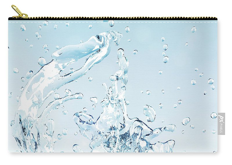 Motion Carry-all Pouch featuring the digital art Splash Of Water by Maciej Frolow