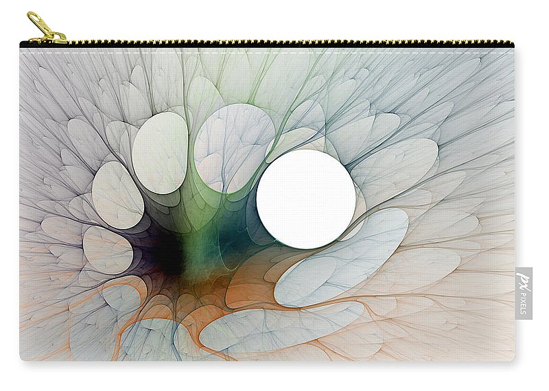 Fractal Carry-all Pouch featuring the digital art Splatt by Richard Ortolano