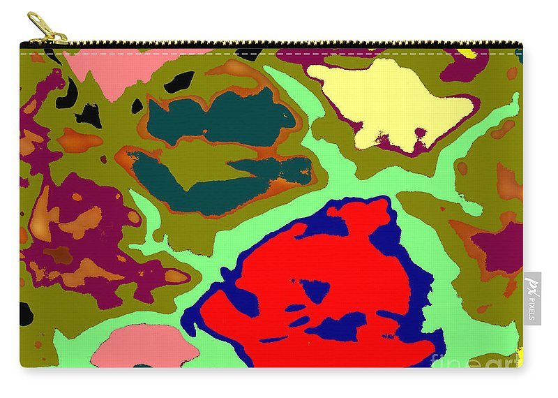 Abstract Carry-all Pouch featuring the photograph Splatter by Joseph Baril