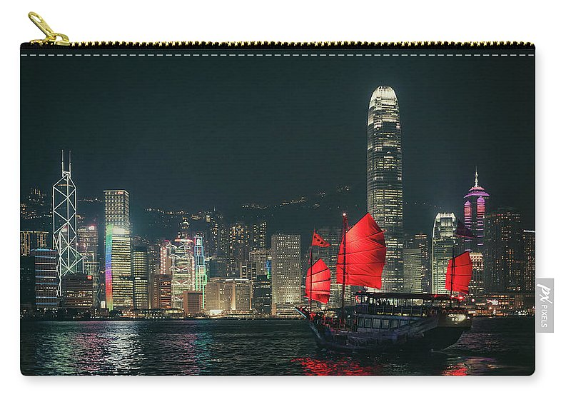 Outdoors Carry-all Pouch featuring the photograph Splendid Asian City, Hong Kong by D3sign