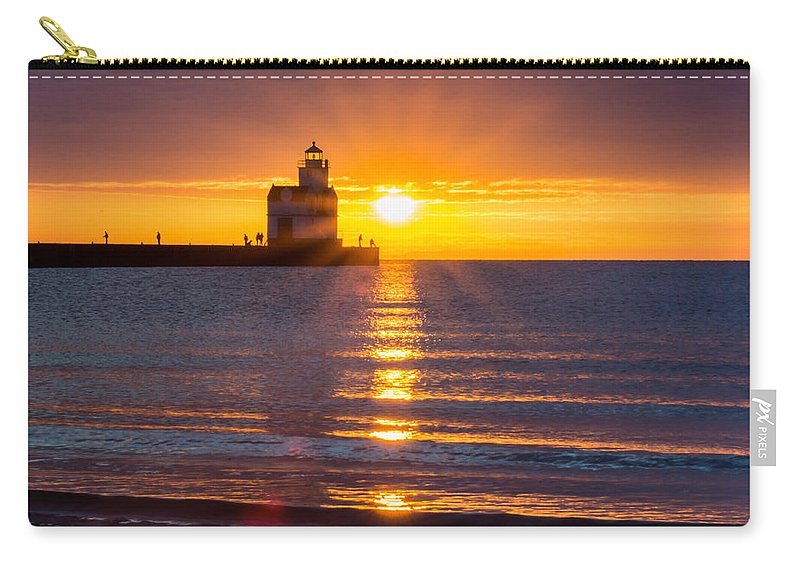 Lighthouse Carry-all Pouch featuring the photograph Splendour Rising by Bill Pevlor