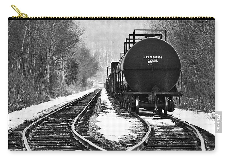 Train Carry-all Pouch featuring the photograph Split Decision by David Johnson