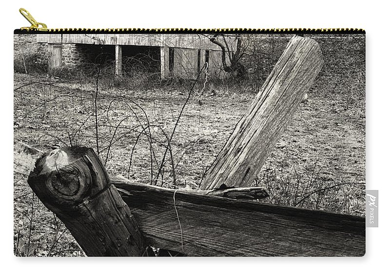 Fence Carry-all Pouch featuring the photograph Split Rail Fence by Fran Gallogly