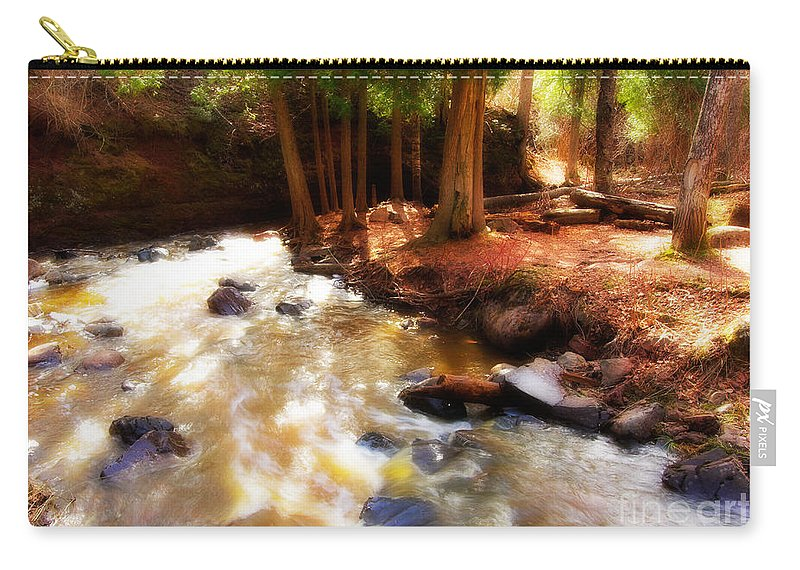 Minnesota Carry-all Pouch featuring the photograph Split Rock River by Joe Mamer