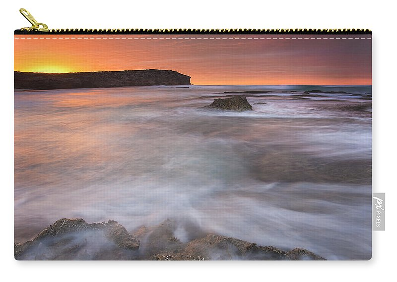 Sunrise Carry-all Pouch featuring the photograph Splitting The Tides by Mike Dawson