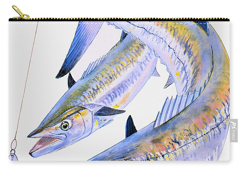 Kingfish Carry-all Pouch featuring the painting Spoon King by Carey Chen