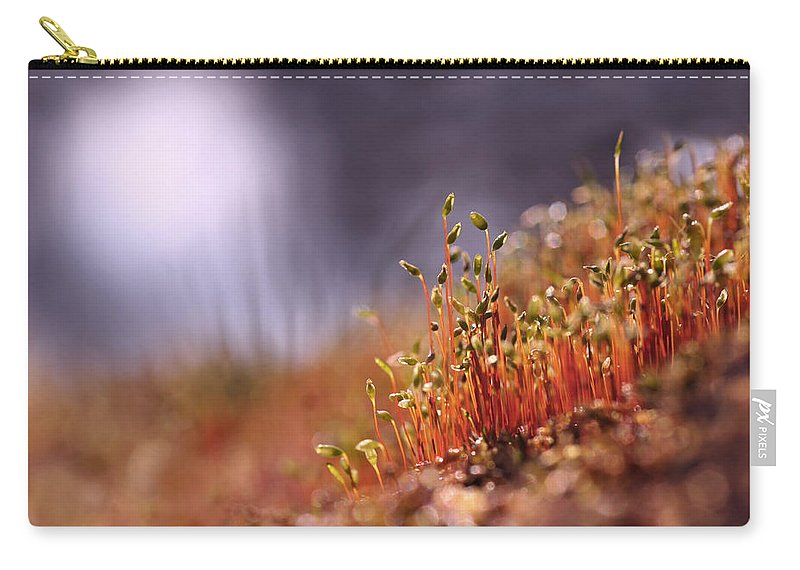 Bright Carry-all Pouch featuring the photograph Sporophyte Colony by Dreamland Media