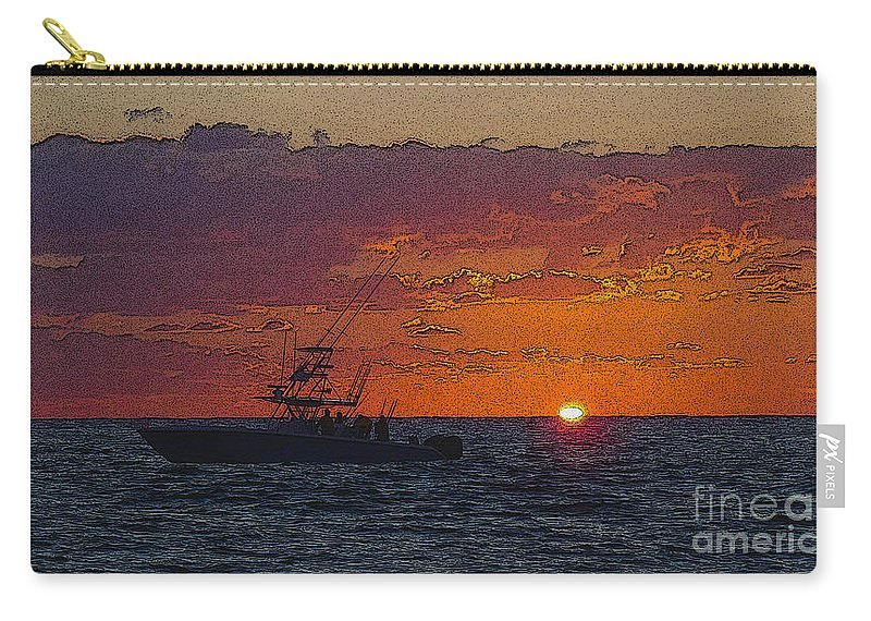 Sportfishing Carry-all Pouch featuring the photograph Sport Fisher by Carey Chen