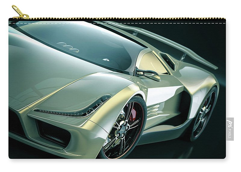 Aerodynamic Carry-all Pouch featuring the photograph Sports Car by Mevans