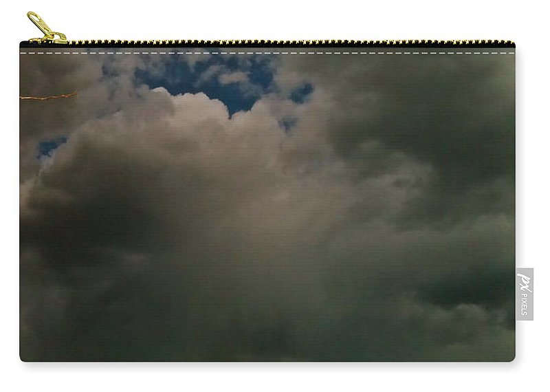 Clouds Carry-all Pouch featuring the photograph Spot Light On Grey Clouds by LeLa Becker