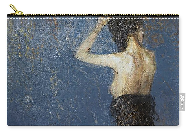 Figure Carry-all Pouch featuring the painting Spotlight by Grigor Malinov