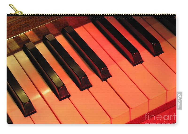 Piano Carry-all Pouch featuring the photograph Spotlight On Piano by Ann Horn