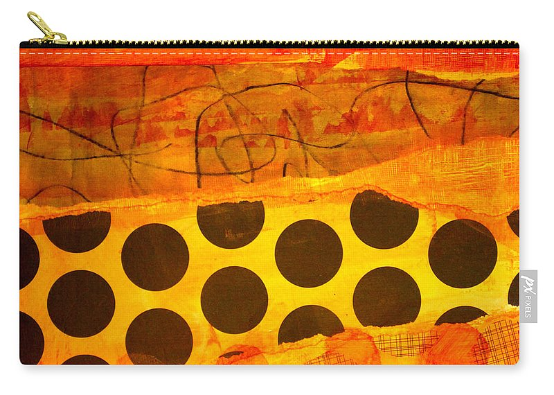 Orange Carry-all Pouch featuring the painting Spotted Sunset by Nancy Merkle