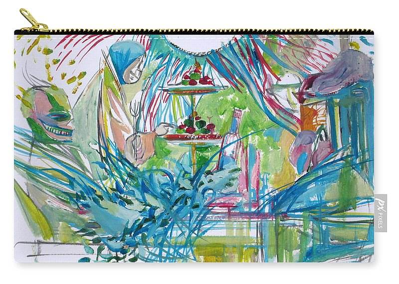 People Carry-all Pouch featuring the painting Spread Of Energies by Fabrizio Cassetta