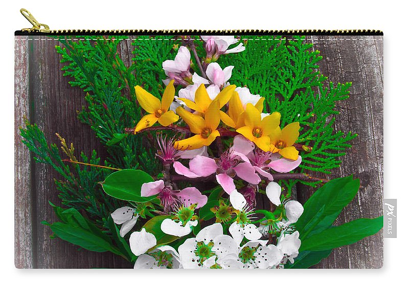 Spring Carry-all Pouch featuring the photograph Spring Arrangement by Scott Hervieux
