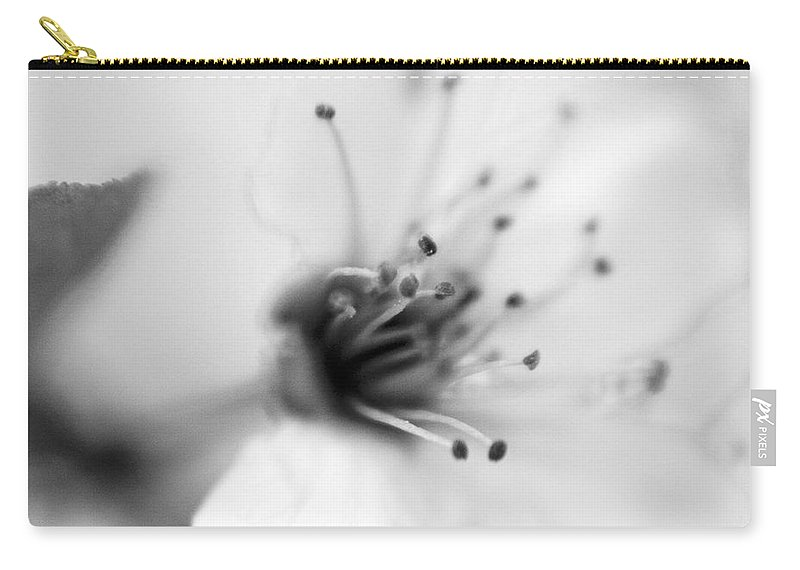 B&w Carry-all Pouch featuring the photograph Spring Blooms 0134 by Timothy Bischoff