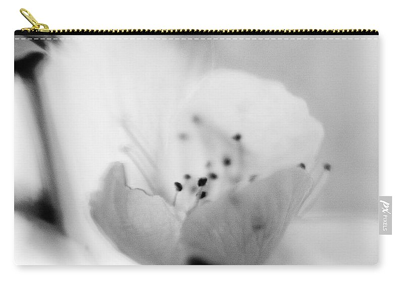 B&w Carry-all Pouch featuring the photograph Spring Blooms 0189 by Timothy Bischoff