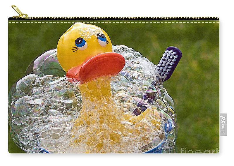 Rubber Duck Carry-all Pouch featuring the photograph Spring Cleaning by Susie Peek