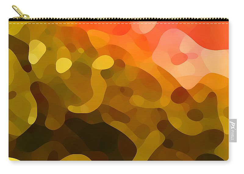 Abstract Carry-all Pouch featuring the painting Spring Day by Amy Vangsgard