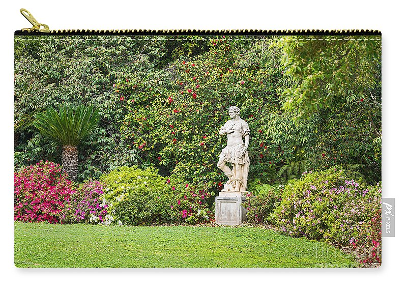 Spring Carry-all Pouch featuring the photograph Spring Flower Blooms At The North Vista Lawn Of The Huntington Library. by Jamie Pham