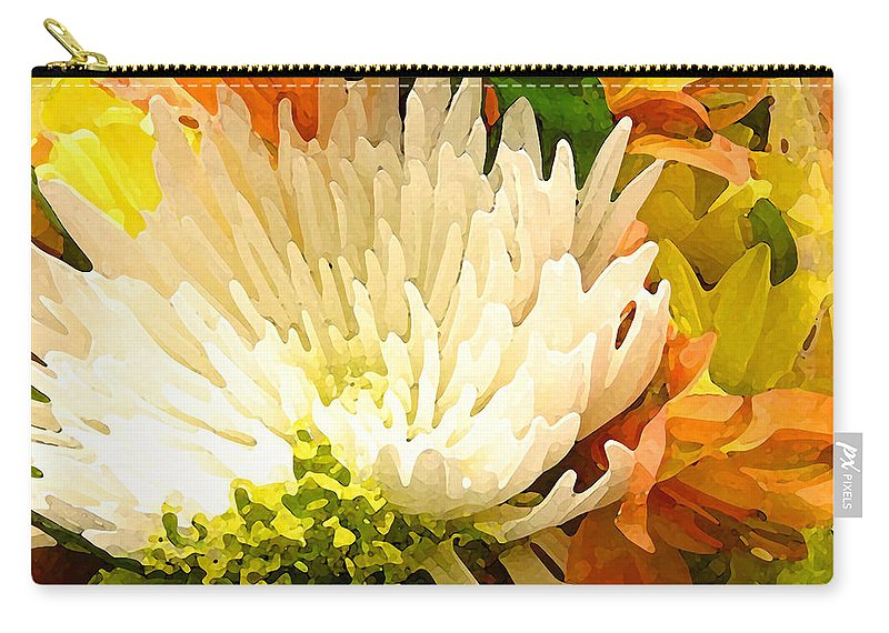Roses Carry-all Pouch featuring the painting Spring Flower Burst by Amy Vangsgard
