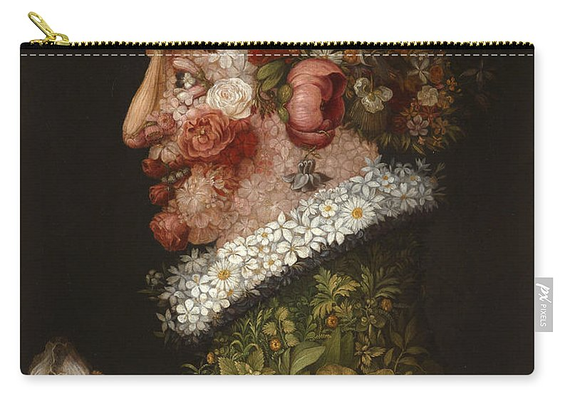 Giuseppe Arcimboldo Carry-all Pouch featuring the painting Spring by Giuseppe Arcimboldo
