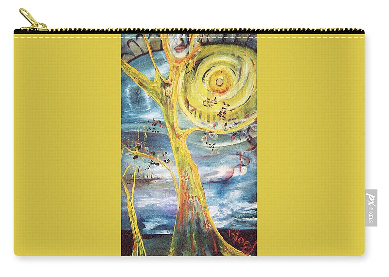 Impressionism Carry-all Pouch featuring the painting Spring Glory by Peggy Blood