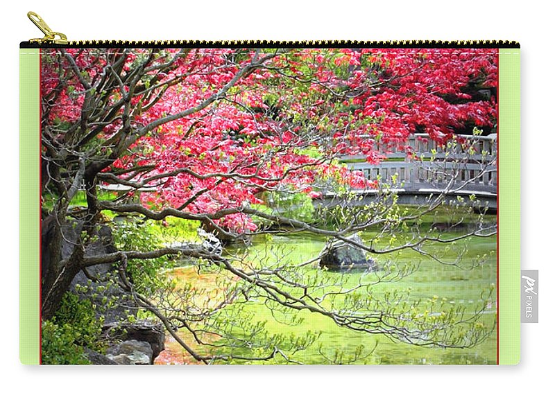 Japanese Garden Carry-all Pouch featuring the photograph Spring Is In The Air by Carol Groenen