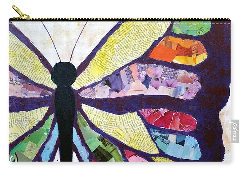 Butterfly Carry-all Pouch featuring the mixed media Spring Is In The Air by Heather Hancock
