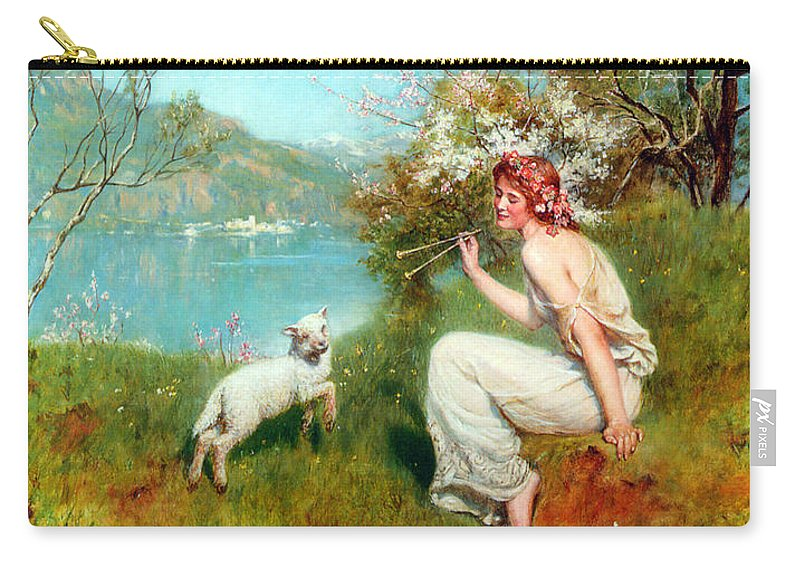 John Collier Carry-all Pouch featuring the digital art Spring by John Collier