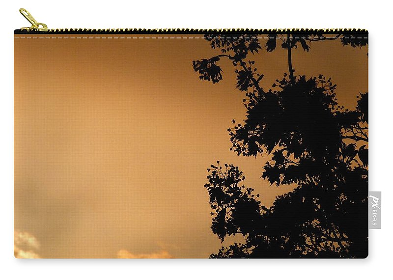 Spring Maple Silhouette Carry-all Pouch featuring the photograph Spring Maple Silhouette by Will Borden
