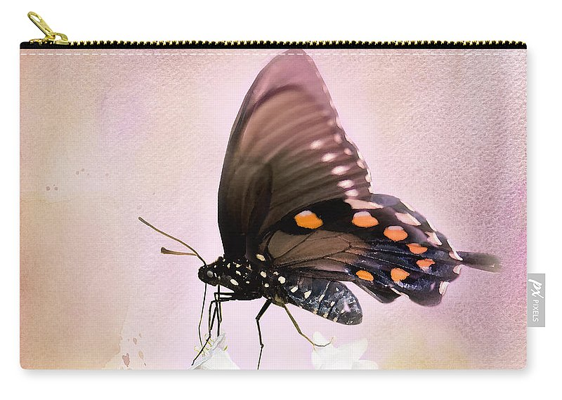 Pipevine Swallowtail Butterfly Carry-all Pouch featuring the photograph Spring Morning by Betty LaRue