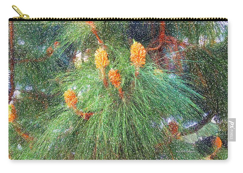 Pine Tree Carry-all Pouch featuring the painting Spring Pine by Angela Stanton