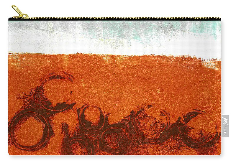 Abstract Carry-all Pouch featuring the digital art Spring Rains by Carol Leigh